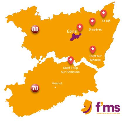 FMS pensions de famille - Epinal Saint-Die- Bruyeres - Rupt-sur-moselle - Saint-loup-sur-semouse
